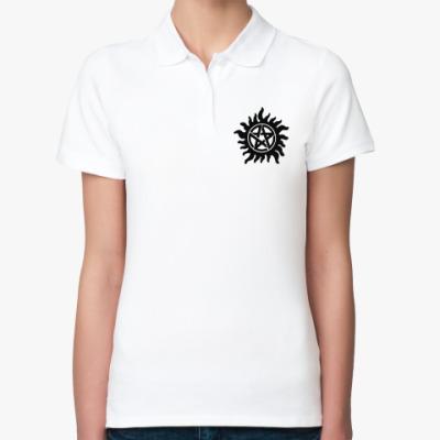 Женская рубашка поло Demon Seal