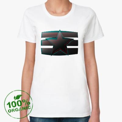 Женская футболка из органик-хлопка Звезда