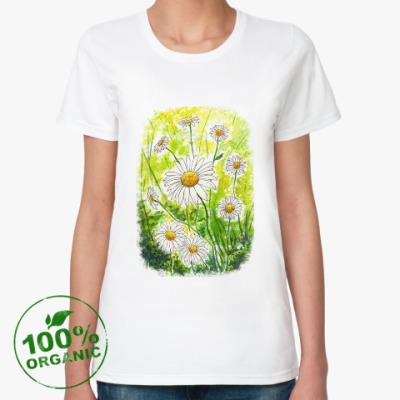 Женская футболка из органик-хлопка Ромашки