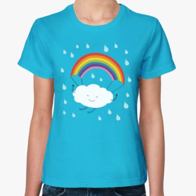 Женская футболка Туча
