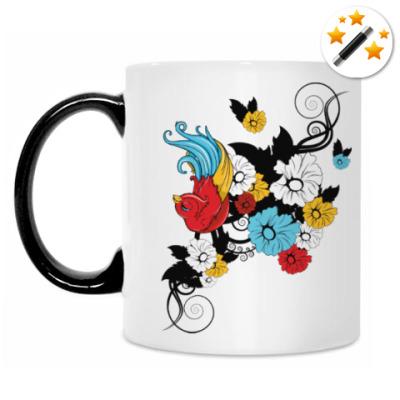 Кружка-хамелеон Очаровательная птичка