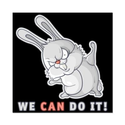 Наклейка (стикер)  White Rabbit