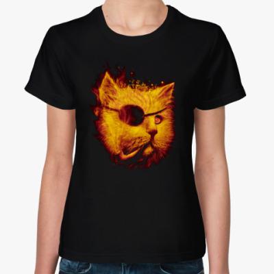 Женская футболка Одноглазый Кот