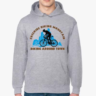 Толстовка худи biking around town