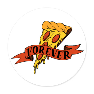 Виниловые наклейки Pizza forever