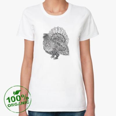 Женская футболка из органик-хлопка Глухарь