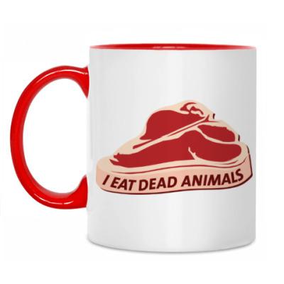 Кружка I eat dead animals