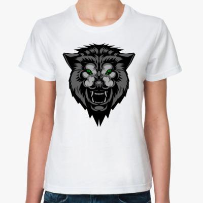 Классическая футболка волк