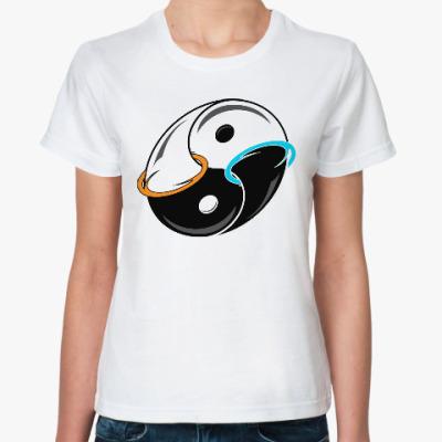 Классическая футболка Инь Янь (Портал)