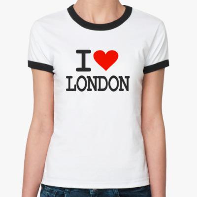 Женская футболка Ringer-T I love London