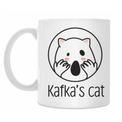 Кружка Kafka's cat