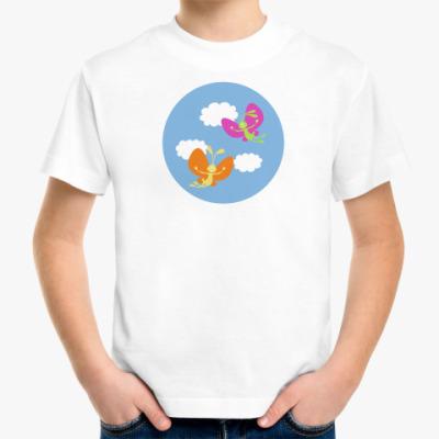 Детская футболка  'Зайцы летят'