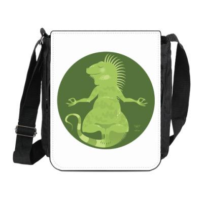 Сумка на плечо (мини-планшет) Animal Zen: I is for Iguana