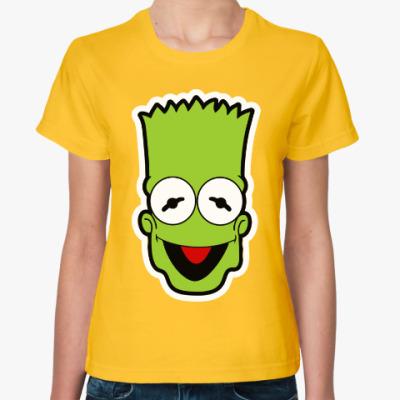 Женская футболка Барт - Кермит