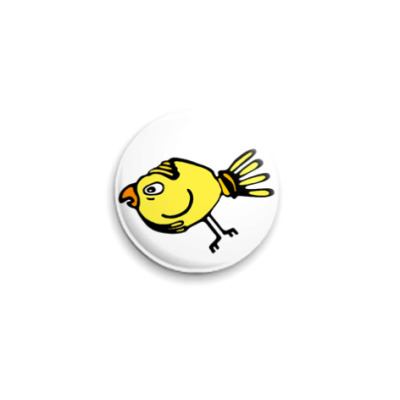 Значок 25мм Птица