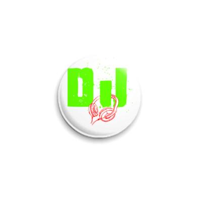Значок 25мм DJ