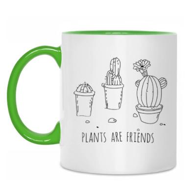 Кружка Plants are friends