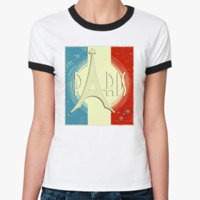 Женская футболка Ringer-T Paris