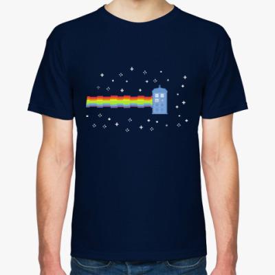 Футболка Nyan Cat &TARDIS