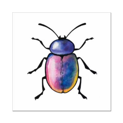 Наклейка (стикер) Радужный жук