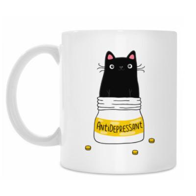Кружка Кот AntiDepressant