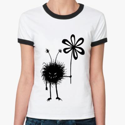 Женская футболка Ringer-T Маленькое зло
