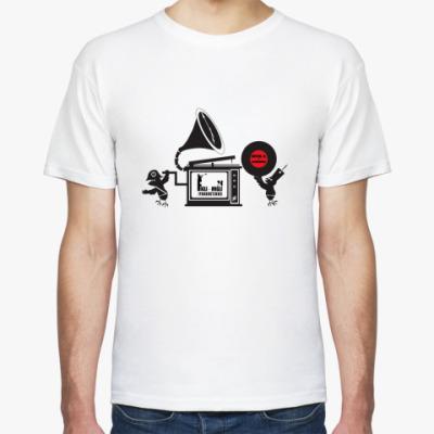 Футболка М. футболка с граммофоном