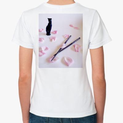 Классическая футболка  Japan жен #3