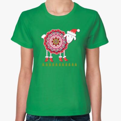 Женская футболка Овечка, 2015