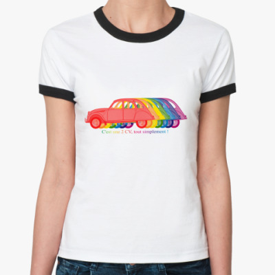 Женская футболка Ringer-T  2CV