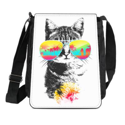 Сумка-планшет Кот в очках