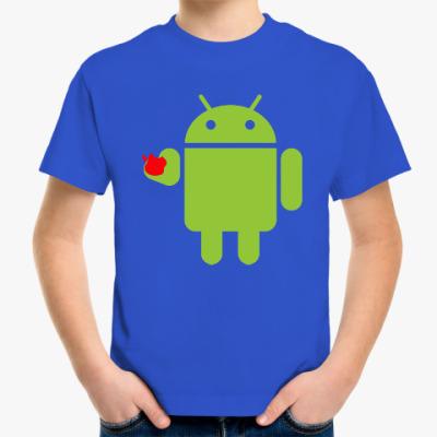 Детская футболка Андроид с яблоком
