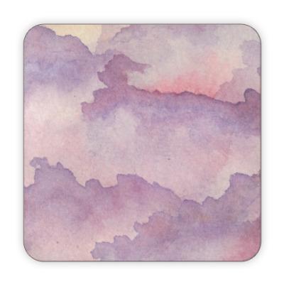 Костер (подставка под кружку) Нежные облака