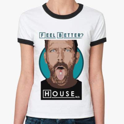 Женская футболка Ringer-T Feel better?