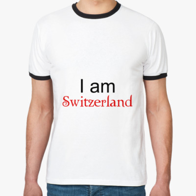 Футболка Ringer-T I am Switzerland