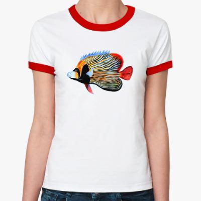 Женская футболка Ringer-T рыбный день