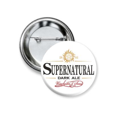 Значок 37мм Supernatural - Темный эль