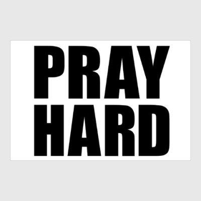 Постер Pray Hard