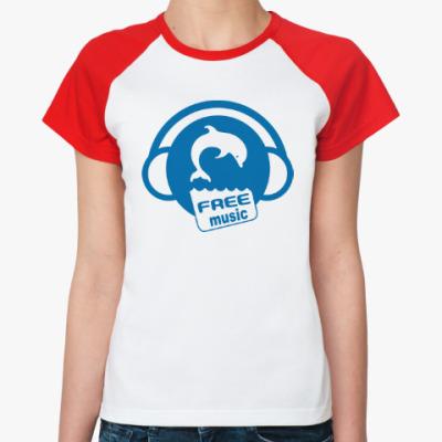 Женская футболка реглан Free Music