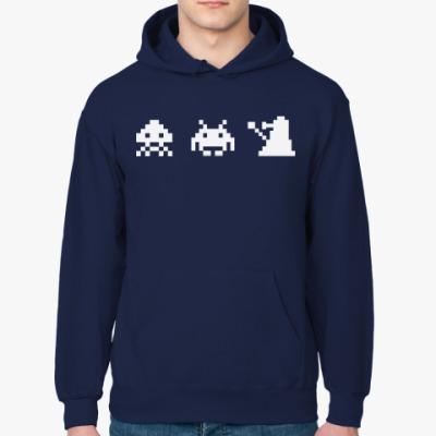 Толстовка худи Dalek & Space Invaders