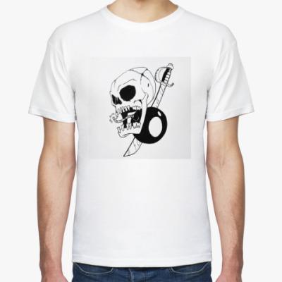 Футболка эмблема пираты