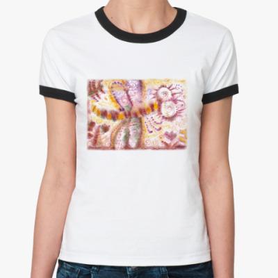 Женская футболка Ringer-T Стрекоза из м/ф Винни-Пух