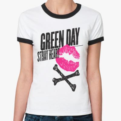 Женская футболка Ringer-T Green Day