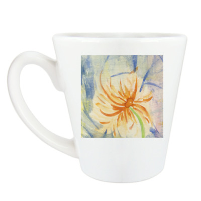 Чашка Латте Цветы