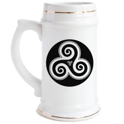 Пивная кружка Breton triskel