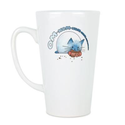 Чашка Латте Ом-ном-ном-ном кот