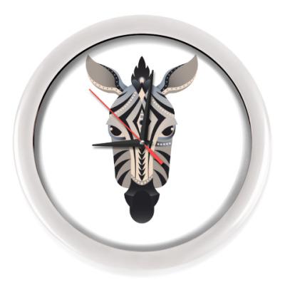 Настенные часы Геометрическая зебра