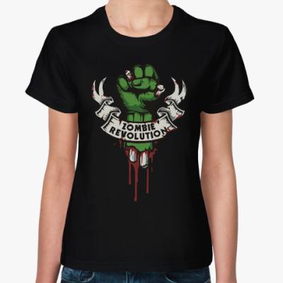 Женская футболка Революция Зомби