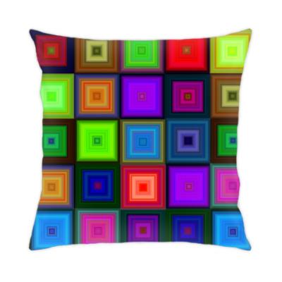 Подушка Неоновые квадраты