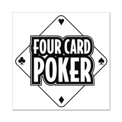Наклейка (стикер) Four Card Poker
